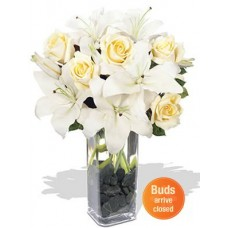 Oriental Lily and Rose Bouquet